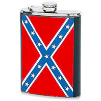confederate rebel flag flask battle flags