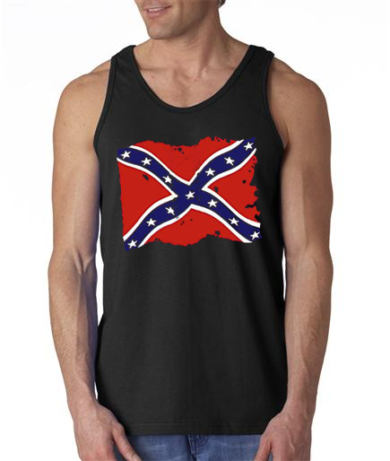 Distressed Dixie Flag Mens Tank Top