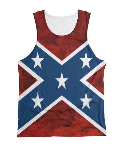 Unisex Mens and Women Rebel Flag Tank Top All Over Print