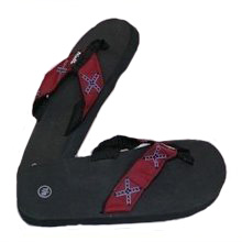 rebel flag flip flop thongs