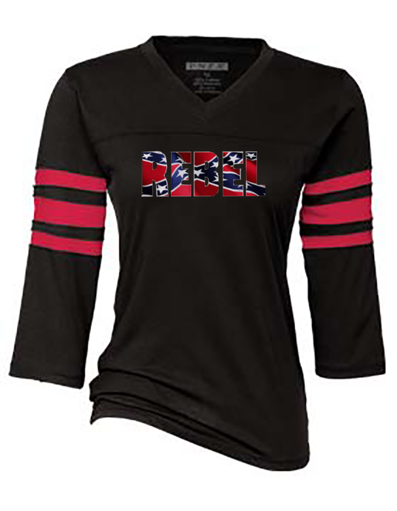 confederate flag womens sports tee